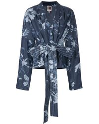 I'm Isola Marras - Belted Floral Print Jacket - Lyst