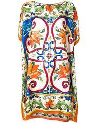 Dolce & Gabbana - Boxy handkerchief tunic top - Lyst