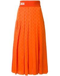 Fendi - Pleated Midi Skirt - Lyst