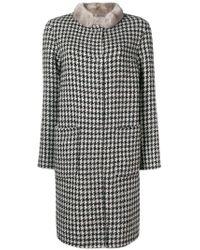 Manzoni 24 - Fur-collar Embroidered Coat - Lyst