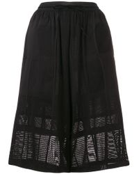 Y-3 - High Waisted Knee Length Shorts - Lyst
