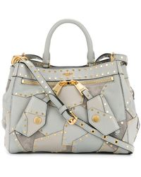 Moschino - Studded Patchwork Tote - Lyst