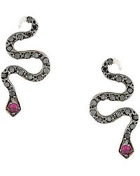 Ileana Makri - Little Snake Earrings - Lyst