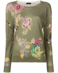 Etro - Paisley Lemur Print Sweater - Lyst