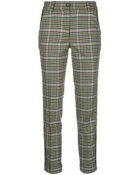 P.A.R.O.S.H. - Checked Cigarette Trousers - Lyst