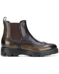 Santoni - Chunky Sole Chelsea Boots - Lyst