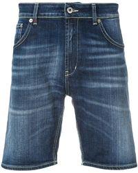 Dondup - Faded raw edge shorts - Lyst
