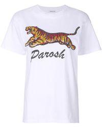 P.A.R.O.S.H. - Tiger Print T-shirt - Lyst