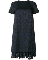 Talbot Runhof - Scalloped Lace Dress - Lyst
