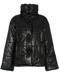 Nanushka - Hide Vegan Leather Puffer Coat - Lyst