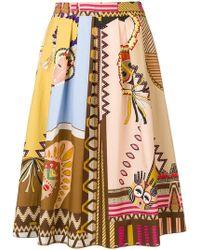 Etro - Aztec Style Print Skirt - Lyst