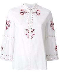 Vilshenko - Embroidered Floral Blouse - Lyst