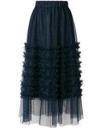 P.A.R.O.S.H. - Ruffled Tulle Skirt - Lyst