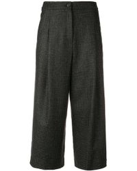 McQ - Houndstooth Cropped Trousers - Lyst