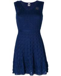 M Missoni - Knitted Mini Dress - Lyst