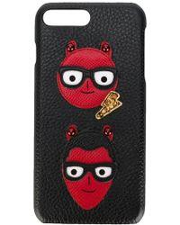 Dolce & Gabbana - Coque pour iPhone 7 Plus à patch créateur - Lyst