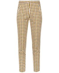 Andrea Marques - Printed Skinny Trousers - Lyst