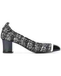 Lanvin | Textured Block Heel Pumps | Lyst