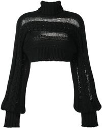 IO Ivana Omazic - Cropped Cable-knit Jumper - Lyst