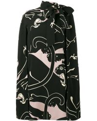 Valentino - Cady Panther Print Dress - Lyst