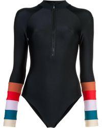 Cynthia Rowley - Shock Wave Electric Stripe Surf Suit - Lyst