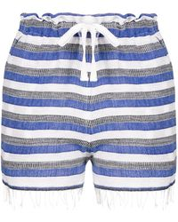 lemlem - Striped Drawstring Shorts - Lyst