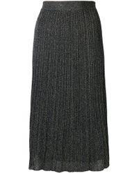 M Missoni - Pleated Knit Skirt - Lyst
