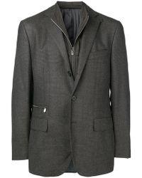 Corneliani - Zip-detail Fitted Blazer - Lyst