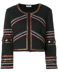 LoveShackFancy - Embroidered Cropped Jacket - Lyst