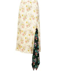 Christopher Kane - Archive Floral Tie Skirt - Lyst