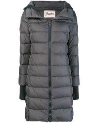 Herno - Hooded Feather Down Jacket - Lyst