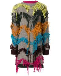 I'm Isola Marras - Embroidered Back To Front Cardigan - Lyst