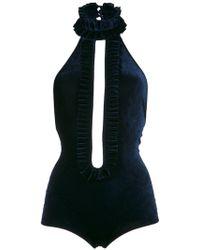 Adriana Degreas Velvet Bodysuit