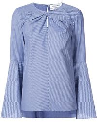 Prabal Gurung - Twist Front Button Sleeve Blouse - Lyst