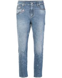 Versace Jeans - Distressed Fitted Jeans - Lyst