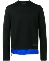 39388fb07351 Lyst - Stone Island Contrasting Knit Hoodie in Blue for Men