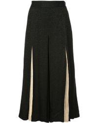 Jill Stuart - Floral Jacquard Cropped Trousers - Lyst