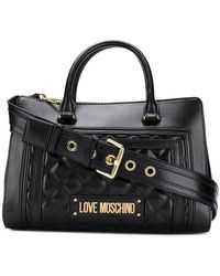Love Moschino - Logo Plaque Tote Bag - Lyst
