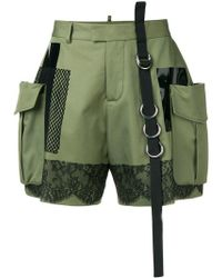 DSquared² - High-waisted Cargo Shorts - Lyst