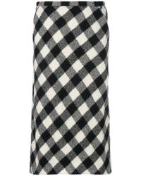Aspesi | Checked Straight Skirt | Lyst