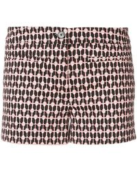 Dondup - Heart Print Shorts - Lyst