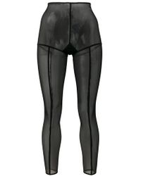 Ann Demeulemeester - Footless Solid Stripe Tights - Lyst
