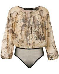 Andrea Marques - Map Print Bodysuit - Lyst