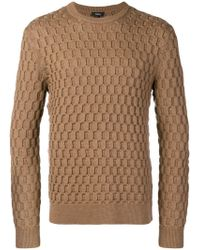 Theory - Geometric Texture Fitted Jumper - Lyst