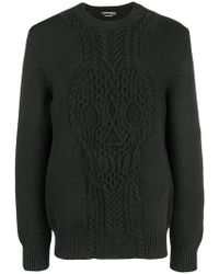 Alexander McQueen - Cable-knit Skull Sweater - Lyst
