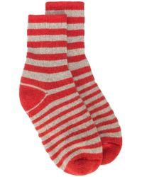 The Elder Statesman | Cashmere Stripe Socks | Lyst