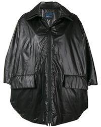 Yohji Yamamoto - Cropped Sleeve Zip Coat - Lyst