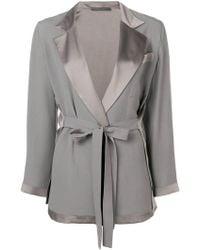 Alberta Ferretti - Belted Tailored Jacket - Lyst