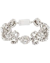 6e3c971ab167 Miu Miu Crystal And Pearl Wrap Bracelet in Black - Lyst