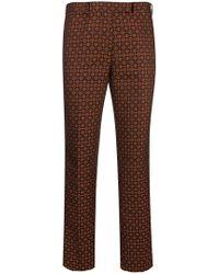 Etro - Geometric Jacquard Trousers - Lyst